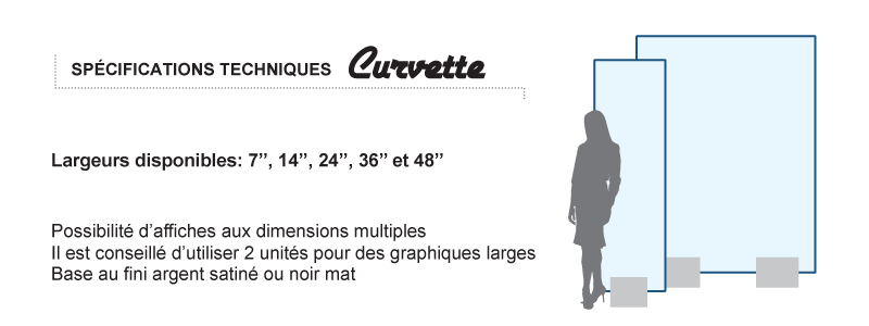 Specs porte-affiche Curvette