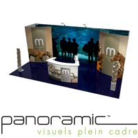 stand exposition kiosque panoramic