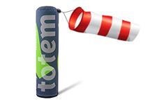 Tour d'affichage gonflable Totem