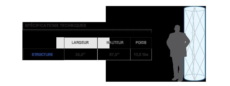Specs colonne publicitaire XpoTower